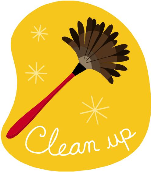 Clean Up! Don't cover up!